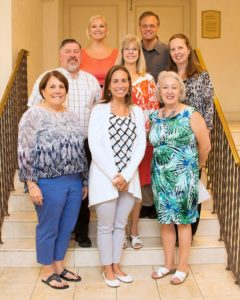 Top row: Karen Johnson, Chad Rohlfs Middle row: Joe Montgomery, Cheryl Cobbs, Lynne Haley Bottom row: Gretchen Morgan, Danielle Ford, Jo Ann Winn