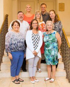 Top row: Karen Johnson, Chad Rohlfs Middle row: Joe Montgomery, Cheryl Cobbs, Lynne Haley Bottom row: Gretchen Morgan, Danielle Ford, Jo Ann Winn